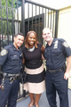 Gibson with NYPD Officers-Taken July 2015.