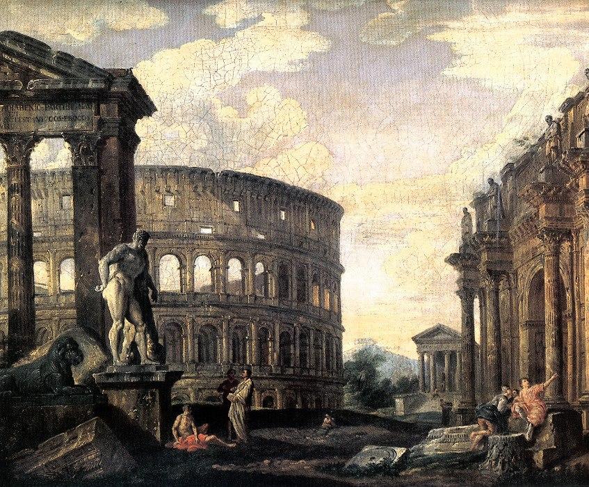 Giovanni Paolo Pannini - Ru%C3%ADnas de Roma Antiga