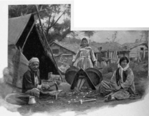 Demographics of Turkey - A Gypsy camp near Istanbul (1901)