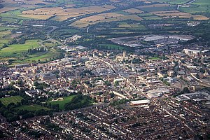 English: Gloucester and its cathedral Taken fr...