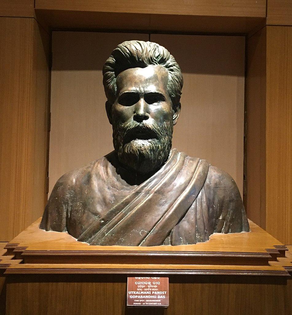 Utkalamani Pandit Gopabandhu Das bust in Odisha State Museum