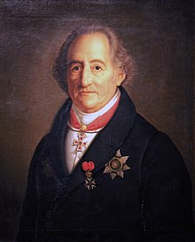 Goethe-Porträt von Heinrich Christoph Kolbe, 1822 (Quelle: Wikimedia)
