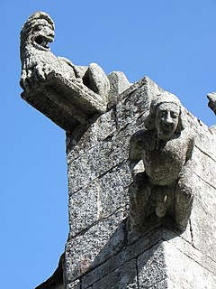 Fantastic or mythical figure used as architectural element