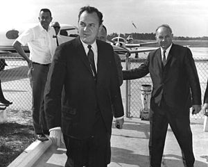 DeLand Municipal Airport - Governor Claude Kirk visited DeLand Airport in March 1967