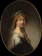 Govert Flinck after Rembrandt - Portrait of Saskia as Flora.jpg