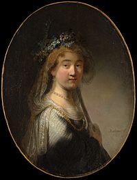 Govert Flinck after Rembrandt - Portrait of Saskia as Flora.jpg