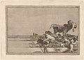 Goya - Desgracias acaecidas en el tendido de la plaza de Madrid, y muerte del alcalde de Torrejón.jpg