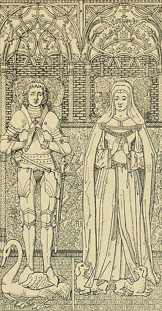 Elizabeth of Nevers - Drawing of the grave of Elizabeth of Nevers and her husband John I of Cleves