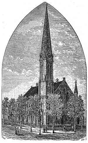 Grace Church (Providence, Rhode Island) - 1886 engraving