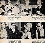 Grace Kelly with Bing Crosby, Oleg Cassini, Clark Gable and Spencer Tracy, Photoplay 1954.jpg
