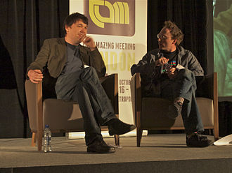 Graham Linehan - Graham Linehan with Jon Ronson at TAM London 2010