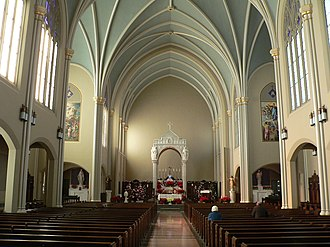 National Register of Historic Places listings in Hall County, Nebraska - Image: Grand Island (Nebraska) cathedral interior 1