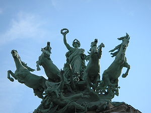 Quadriga on top of the Grand Palais in Paris