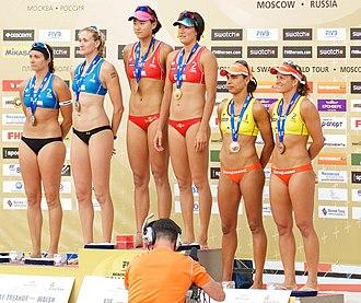 FIVB Beach Volleyball World Tour - Grand Slam Moscow 2012 women's winners