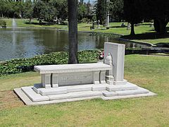 Grave of Tyrone Power at the Hollywood Forver Cemetery.jpg