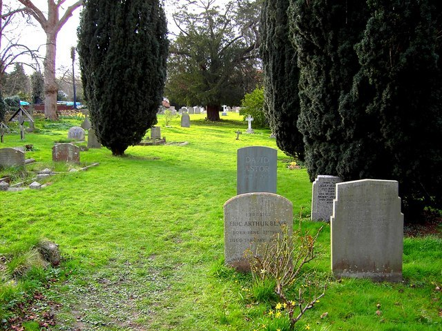 Graves of Astor and Orwell, All Saints, Sutton Courtenay - geograph.org.uk - 362296