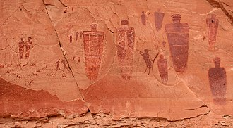 Horseshoe Canyon (Utah) - Part of the Great Gallery