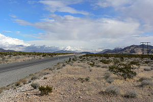 U.S. Route 93 in Nevada - Near Interstate 15, looking north