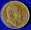 Great Britain dateless double Obverse Mule Halfpenny Edward VII 1902 to 1910, Error Coin. Reverse.jpg