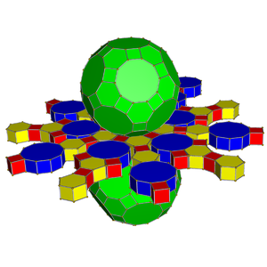 Truncated icosidodecahedral prism - Net