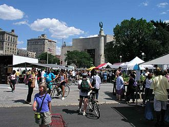 Grand Army Plaza - Saturday market in the plaza (Summer 2003)