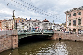 Green Bridge (Saint Petersburg) - Green Bridge in 2014