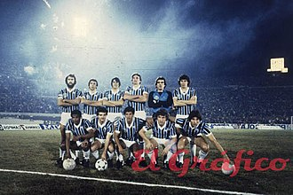 Grêmio Foot-Ball Porto Alegrense - Gremio squad that played the first 1983 Copa Libertadores Finals vs Peñarol in Montevideo