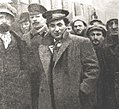 Grigory Zinoviev, Chairman of Petrograd Soviet among the Political Commissars in 1918.jpg