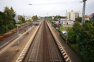 Groß Gerau station - Platform of Groß Gerau station