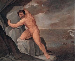 Polyphemus giant son of Poseidon and Thoosa in Greek mythology