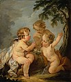 Guillaume Taraval - Three amorins playing with a bird's nest - S 125 - Finnish National Gallery.jpg