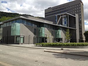 Judiciary of Norway - The Gulating Court of Appeal building in Bergen