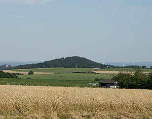 "Hürtgenwald - A landmark: the Burgberg (""Castle Hill"") near Bergstein"