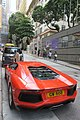 HK 上環 Sheung Wan 普仁街 Po Yan Street red race car 林寶堅尼 Lamborghini parking June 2017 IX1 02.jpg