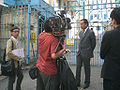 HK Central Police Station Gate Cabke TV Outdoor Interview 29-June-2009.jpg