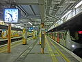 HK MTR Station 火炭站 Fo Tan Platform clock 1027pm night Nov-2013.JPG