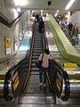 HK MTR Wan Chai Station interior escalators Apr-2016 DSC (3).JPG