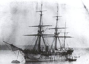 HMS Egeria (1873) - HMS Egeria in 1874