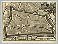 HUA-212029-Plattegrond van de stad Utrecht met directe omgeving met weergave van het stratenplan wegen en watergangen en van enkele kerken in opstand met gestile.jpg