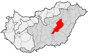 Nagykunság - Location of present-day Greater Kumania within physical subdivisions of Hungaty