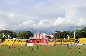 2015 Indonesia Super League - Image: Haji Agus Salim Stadium east stand