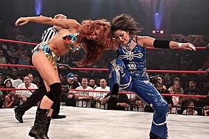 Christy Hemme - Hemme wrestling Hamada