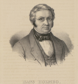 Hans Holmboe - Lithography of Hans Holmboe (1853).