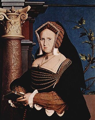 Portrait of a Lady with a Squirrel and a Starling - Image: Hans Holbein d. J. 035
