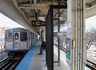 Oak Park, Illinois - Harlem/Lake station on the Chicago 'L' Green Line