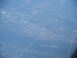 Harrisburg, Pennsylvania - Aerial view of Harrisburg