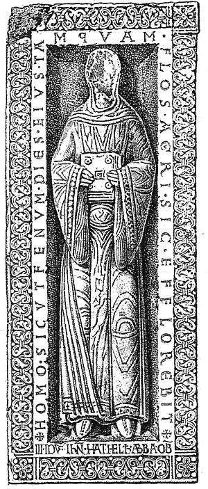 Adelaide II, Abbess of Quedlinburg - Tombstone of Princess Adelaide II