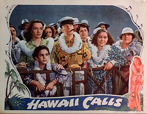 Hawaii Calls (film) - Lobby card