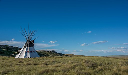 Head Smashed In Buffalo Jump Teepee