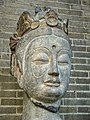 Head of a Bodhisattva Northern Qi Dynasty (550-577 CE) Hebei Province China Limestone.jpg